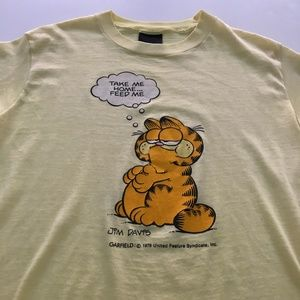 Vintage Garfield Tee Graphic 70s 80s T shirt S/M